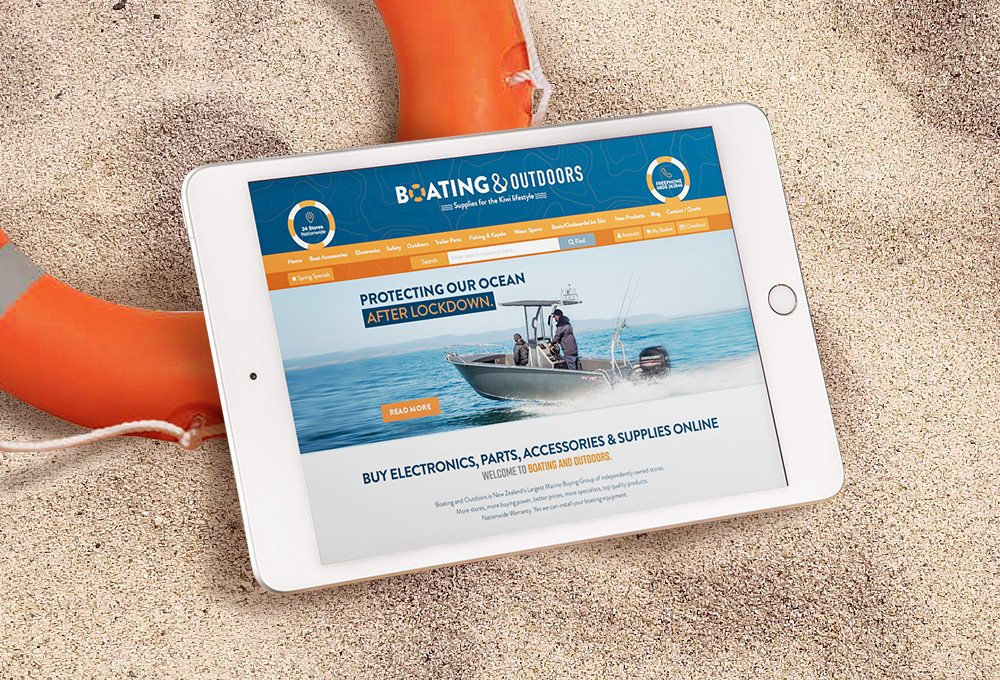 Marine / boating website design example